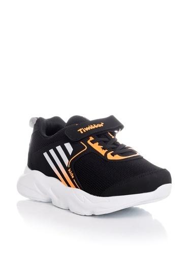Tonny Black Siyah Turuncu Çocuk Spor Ayakkabı Tbz05 Siyah